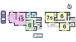 土地面積40.75坪、南西角地です。モデルルームもございますので現地と合わせてご覧下さい。