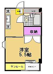 ハイムエトワール[4階]の間取り
