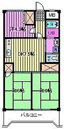 パークパレス[5階]の間取り