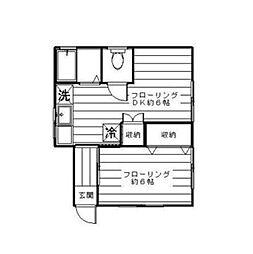 ローズハウス[1階]の間取り