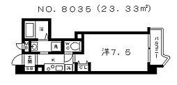 アスティナ上本町[4階]の間取り