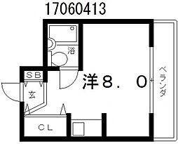 タケ&ハルビル第2[7階]の間取り