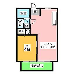NEW CITY静波[1階]の間取り