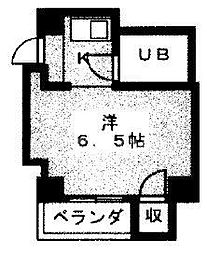 プラットホーム東福寺[102号室号室]の間取り