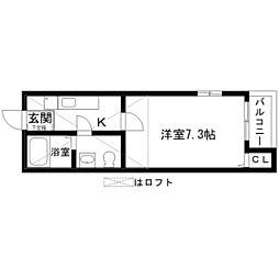 アイリス小幡[1階]の間取り