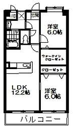 サピエンツァ太宰府[4階]の間取り