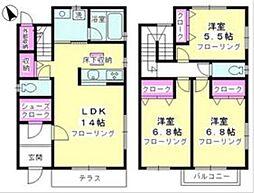 [一戸建] 神奈川県藤沢市下土棚 の賃貸【/】の間取り