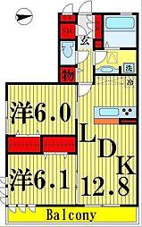 シトロンフレアIII[3階]の間取り