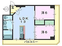 メゾン西大寺[305号室]の間取り