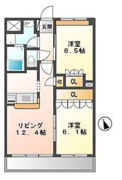 ミウラマンション[4階]の間取り