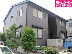 愛知県名古屋市緑区有松の賃貸アパートの外観