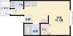 松本ハイツ[3階]の間取り