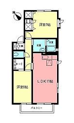 シエル6[2階]の間取り