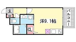 兵庫県神戸市中央区琴ノ緒町4丁目の賃貸マンションの間取り