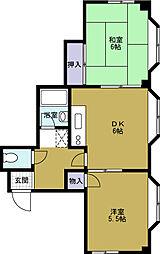 ハイツサキノ[3階]の間取り