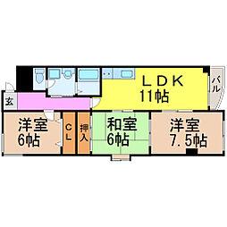 愛知県名古屋市瑞穂区大殿町2丁目の賃貸マンションの間取り