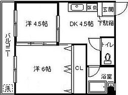 神奈川県横浜市保土ケ谷区天王町2丁目の賃貸マンションの間取り
