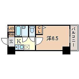 ローズコーポ阪神尼崎[3階]の間取り