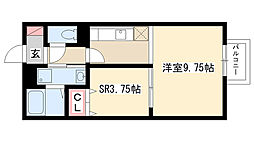 愛知県名古屋市南区豊田3丁目の賃貸アパートの間取り