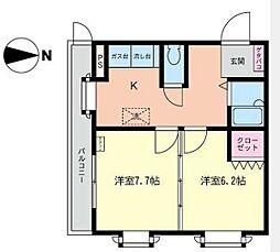 コスモAoi湘南1[2階]の間取り