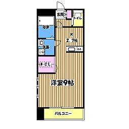 東京都日野市神明2丁目の賃貸マンションの間取り
