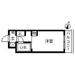 TOP・鐘ケ淵第1[0303号室]の間取り