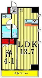 ヴェルメリオ本所 2階1LDKの間取り