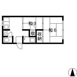 山本文化住宅[105号室号室]の間取り