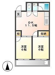 第3和光ビル[6階]の間取り