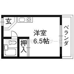 シャトレ壬生[301号室]の間取り