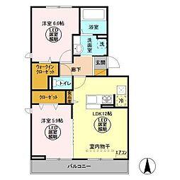 仮)D−room久保ヶ丘[2階]の間取り