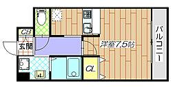 荒本駅徒歩2分 casa・espacio[2階]の間取り