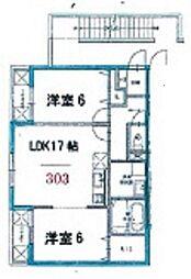 富士林プラザ11番館[303号室]の間取り