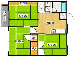 第2グリーンコーポ近藤[202号室]の間取り