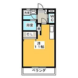 プリンスヴィル[2階]の間取り