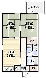 HOUSE2001[402号室]の間取り