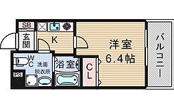 ダイドーメゾン大阪北堀江[7階]の間取り