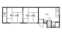 ガーデンコート和泉[1階]の間取り