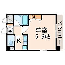 エスティライフ武庫之荘[2階]の間取り