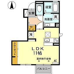 セジュールあい(篠ノ井会)[101号室号室]の間取り