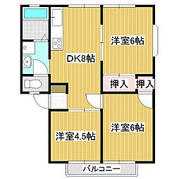 アビタシオン三里塚I[202号室]の間取り