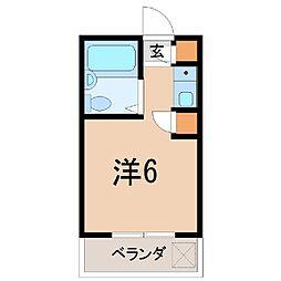 静岡県沼津市富士見町の賃貸アパートの間取り