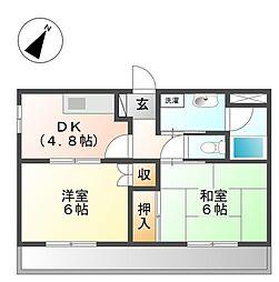 東京都杉並区善福寺3丁目の賃貸アパートの間取り