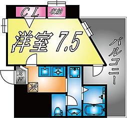 兵庫県神戸市灘区鹿ノ下通3丁目の賃貸マンションの間取り