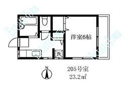東京都目黒区自由が丘2丁目の賃貸アパートの間取り