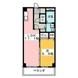 セレ グレージュ[2階]の間取り