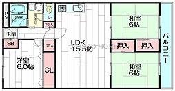 豊津ファミリー[6階]の間取り