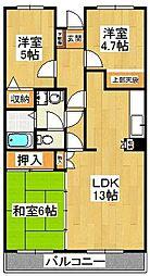 ブランシェ塚田[510号室]の間取り