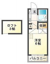 サニーメープル[2階]の間取り