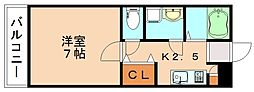 サリエンテ飯塚[1階]の間取り